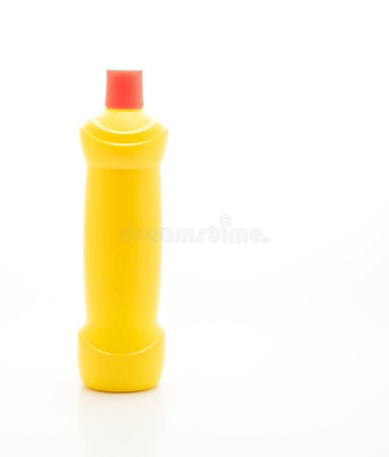 Botella del líquido de la limpieza del cuarto de baño fotos de archivo