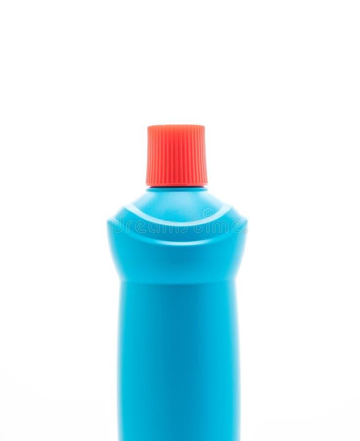 Botella del líquido de la limpieza del cuarto de baño imagenes de archivo