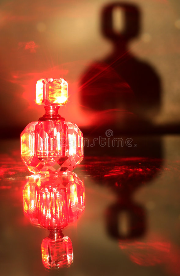 Botella del laser foto de archivo libre de regalías