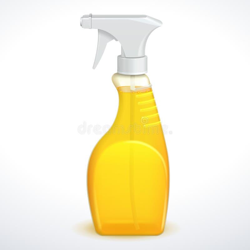 Botella del plástico del limpiador de la pistola del espray libre illustration