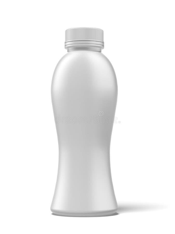 Botella del plástico del yogur ilustración del vector