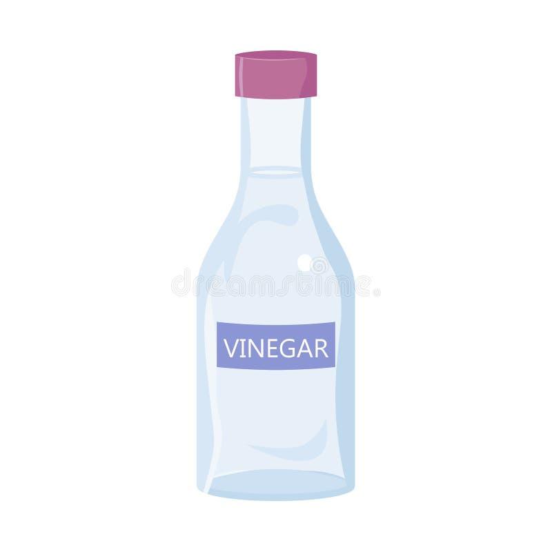 Botella del vinagre blanco stock de ilustración