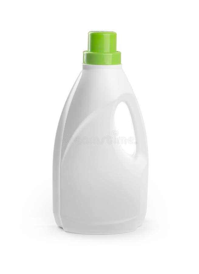 Botella detergente en blanco aislada en blanco imágenes de archivo libres de regalías