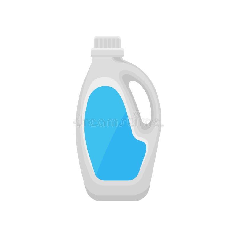 Botella detergente, hogar que limpia el ejemplo del vector del envase de producto químico en un fondo blanco ilustración del vector