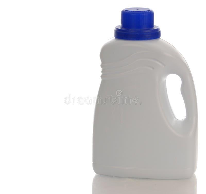 Botella detergente plástica foto de archivo libre de regalías