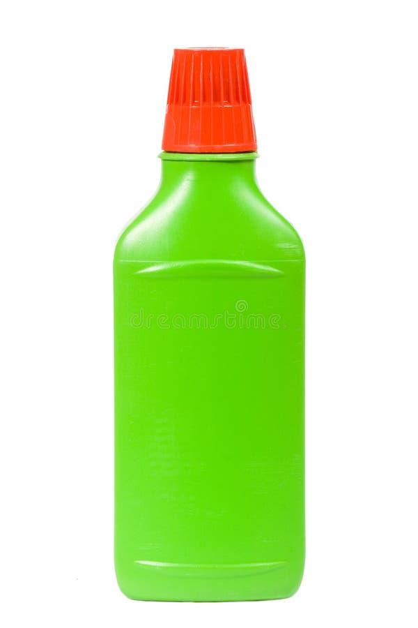 Botella detergente plástica fotos de archivo libres de regalías