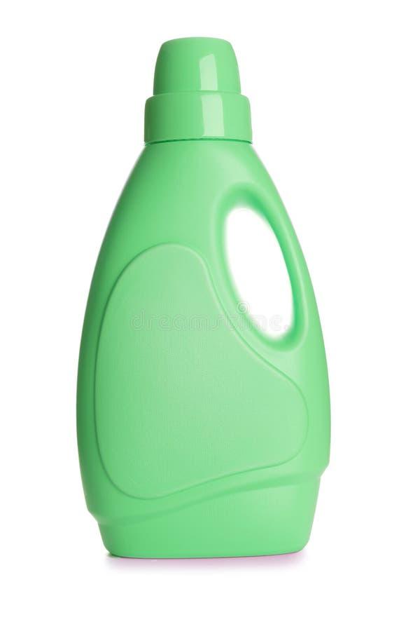 Botella detergente plástica, imagen de archivo libre de regalías