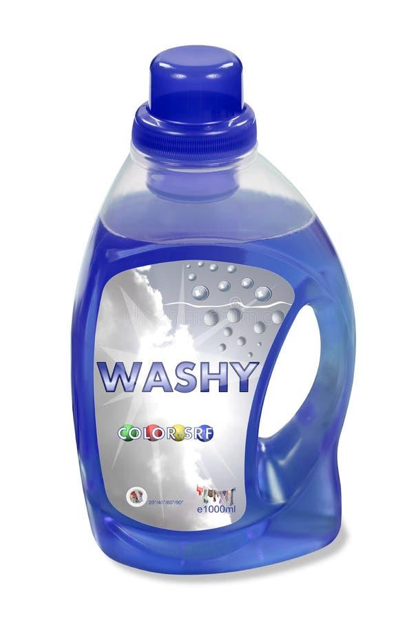 Botella detergente que se lava líquida fingida foto de archivo libre de regalías