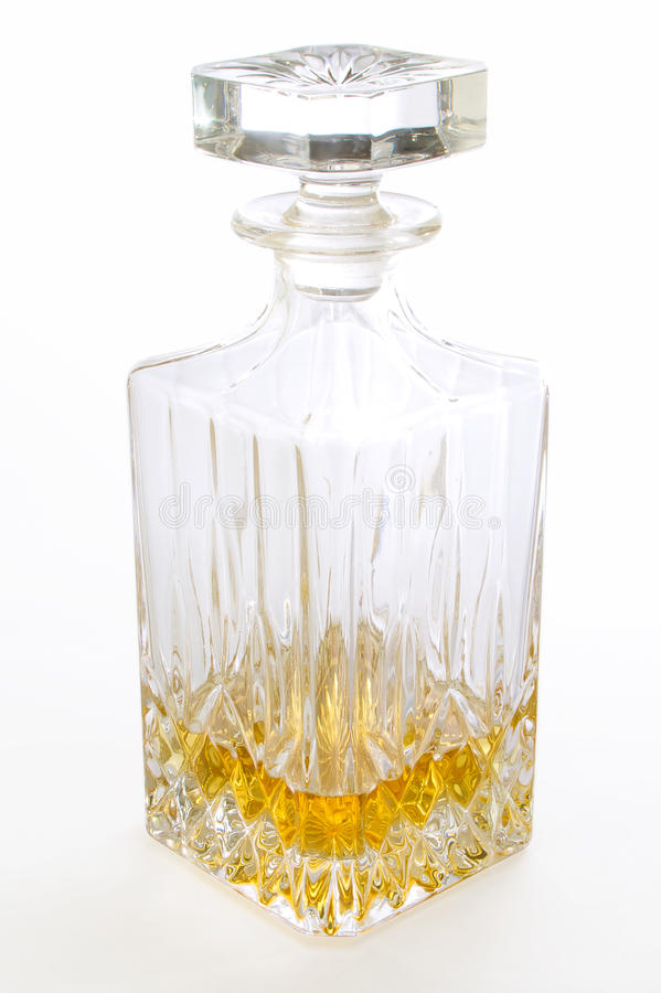 Botella elegante del licor foto de archivo