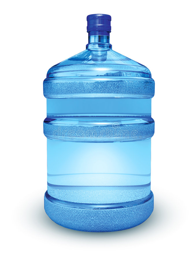 Botella grande con agua imagen de archivo
