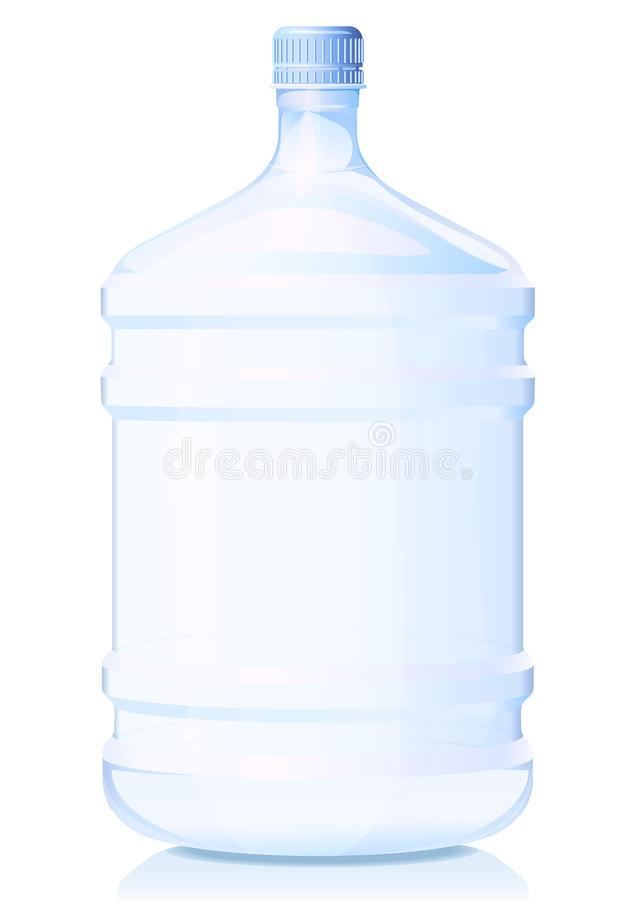Botella grande de agua stock de ilustración