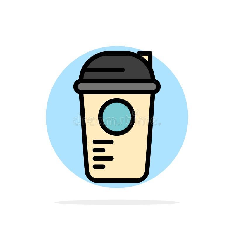 Botella, juego, reconstrucción, deportes, icono plano del color de fondo abstracto termo del círculo ilustración del vector