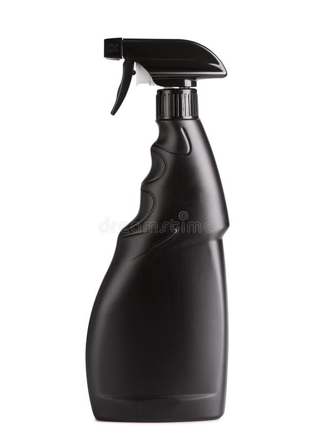 Botella negra del espray de la botella foto de archivo libre de regalías