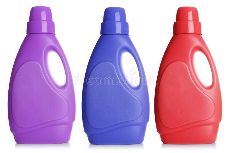 Botella plástica, imagen de archivo libre de regalías