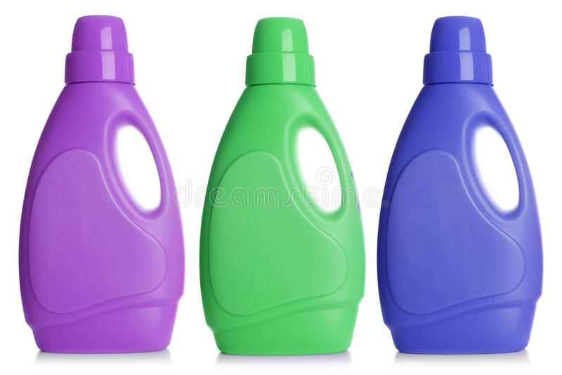 Botella plástica, imagen de archivo