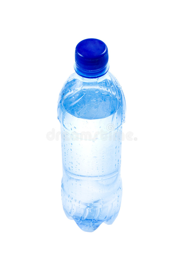 Botella plástica con agua fotografía de archivo libre de regalías