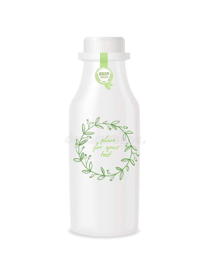 Botella plástica con diseño stock de ilustración