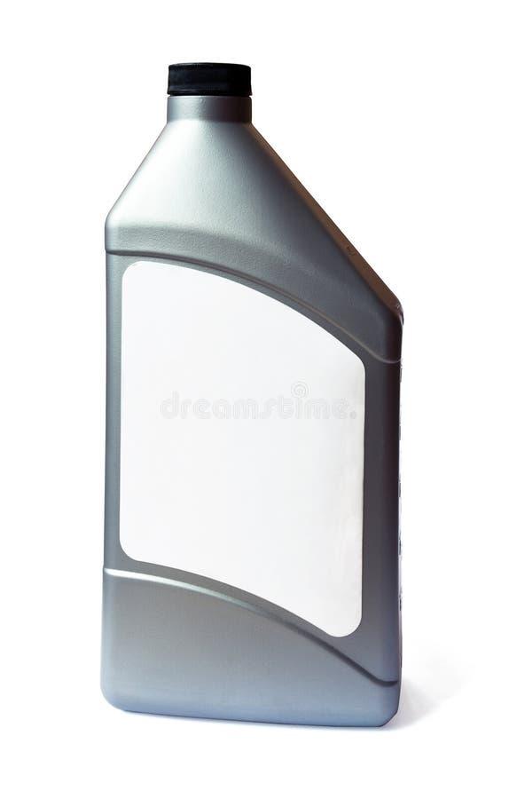 Botella plástica de petróleo de motor imagen de archivo libre de regalías