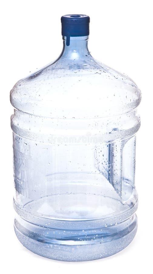Botella plástica grande vacía para el agua potable fotografía de archivo