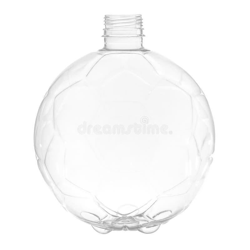 Botella plástica nueva, limpia, vacía en el fondo blanco fotografía de archivo libre de regalías