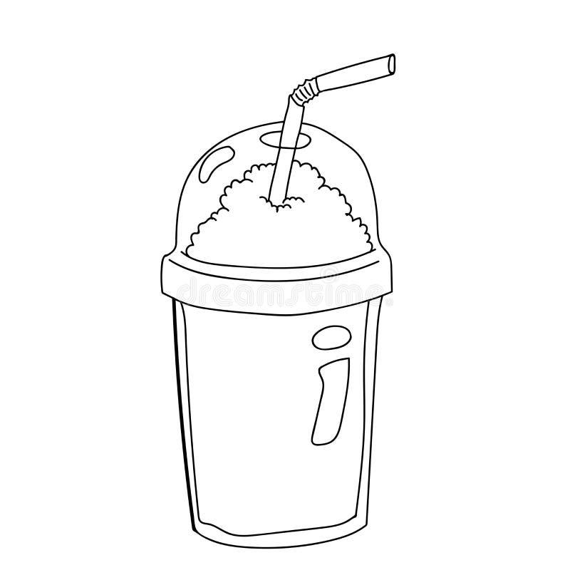 Botella plástica para el ejemplo del Historieta-vector del café libre illustration
