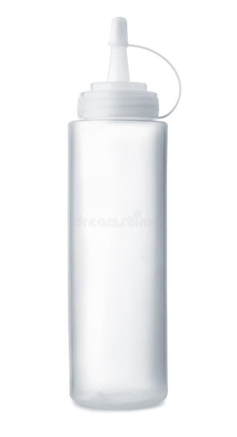 Botella plástica vacía del condimento fotos de archivo