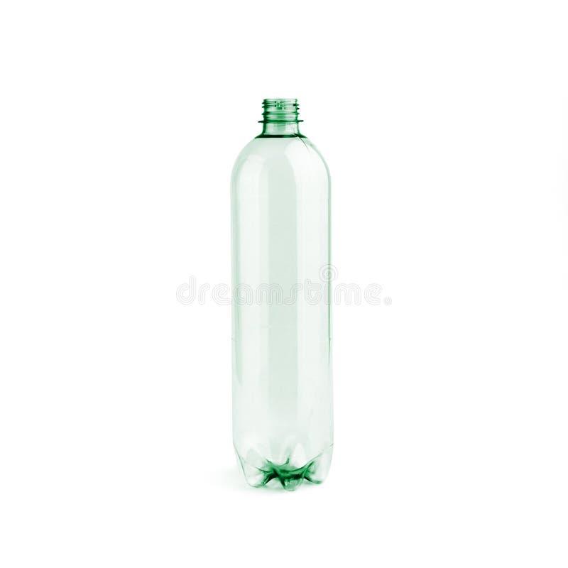 Botella plástica vacía inusitada imagen de archivo