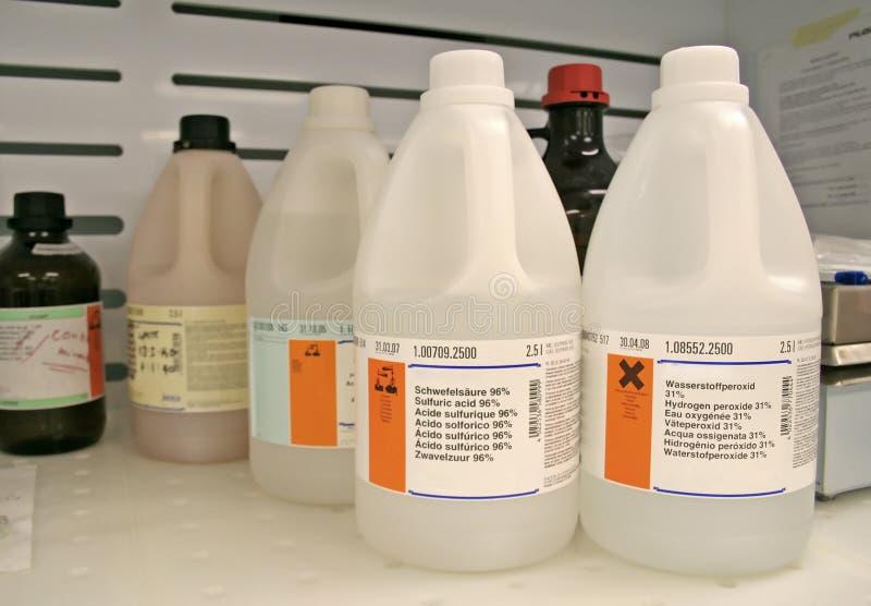 Botella química imagenes de archivo