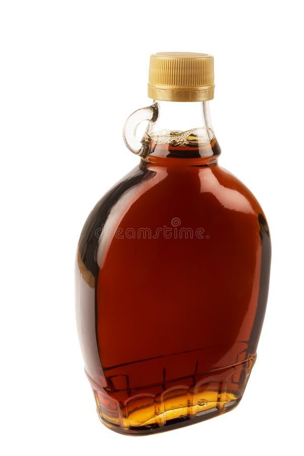 Botella tradicional decorativa del jarabe de arce de Canadá imagen de archivo