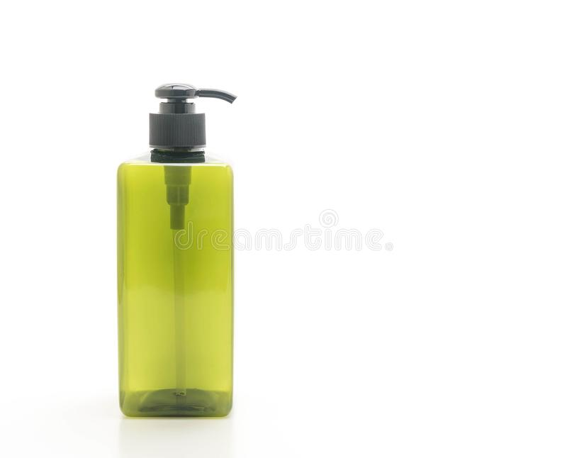 botella vacía de la bomba para el champú o el jabón fotografía de archivo