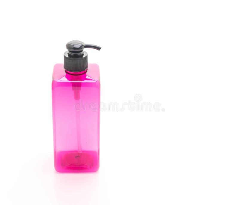 botella vacía de la bomba para el champú o el jabón imagenes de archivo