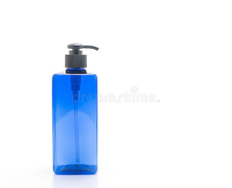 botella vacía de la bomba para el champú o el jabón fotografía de archivo libre de regalías