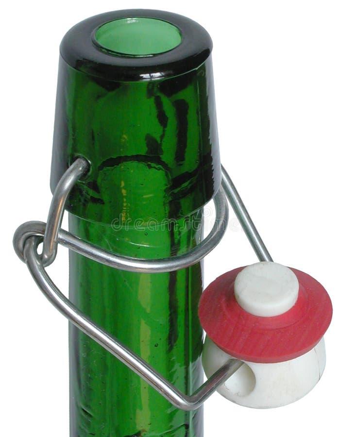 Botella verde foto de archivo