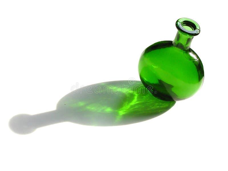 Botella verde fotos de archivo