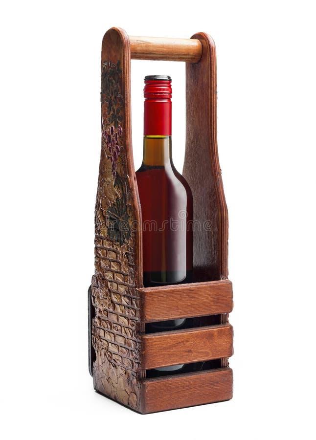 Botella, vino, fondo hecho a mano, aislado, blanco, lujo, alcohol, regalo imagen de archivo
