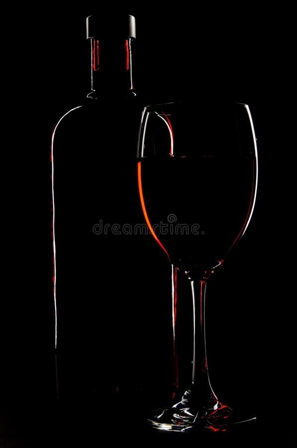 Download Botella y vidrio foto de archivo. Imagen de iluminación - 1293776