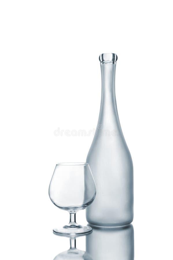 Botella y vidrio de vino imágenes de archivo libres de regalías