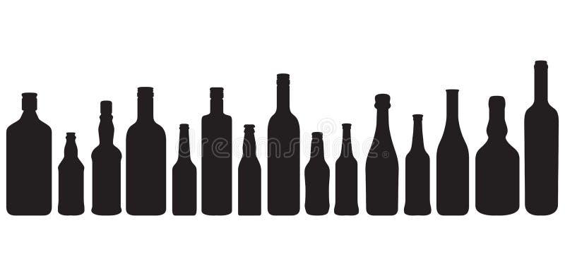 Botellas ilustración del vector