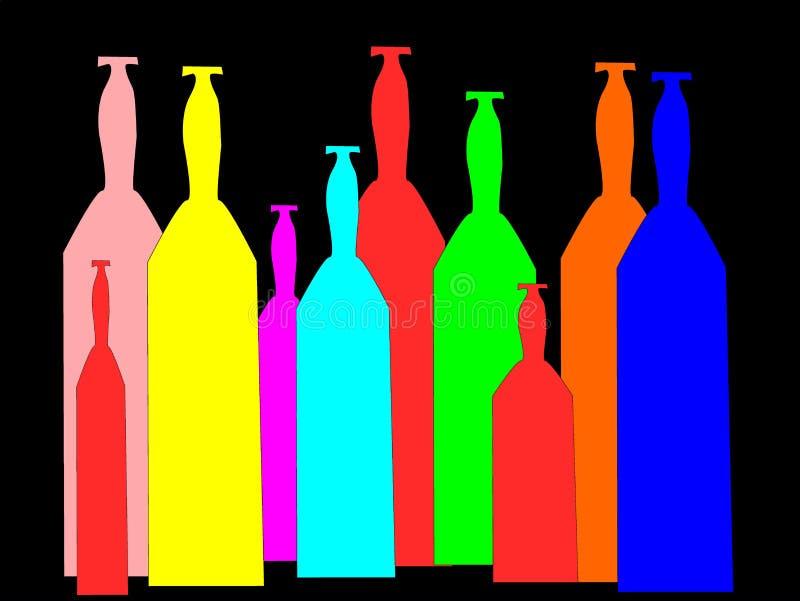 Botellas imagen de archivo libre de regalías
