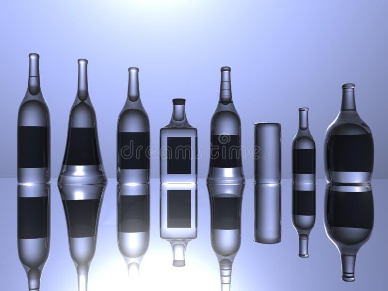 Botellas fotos de archivo
