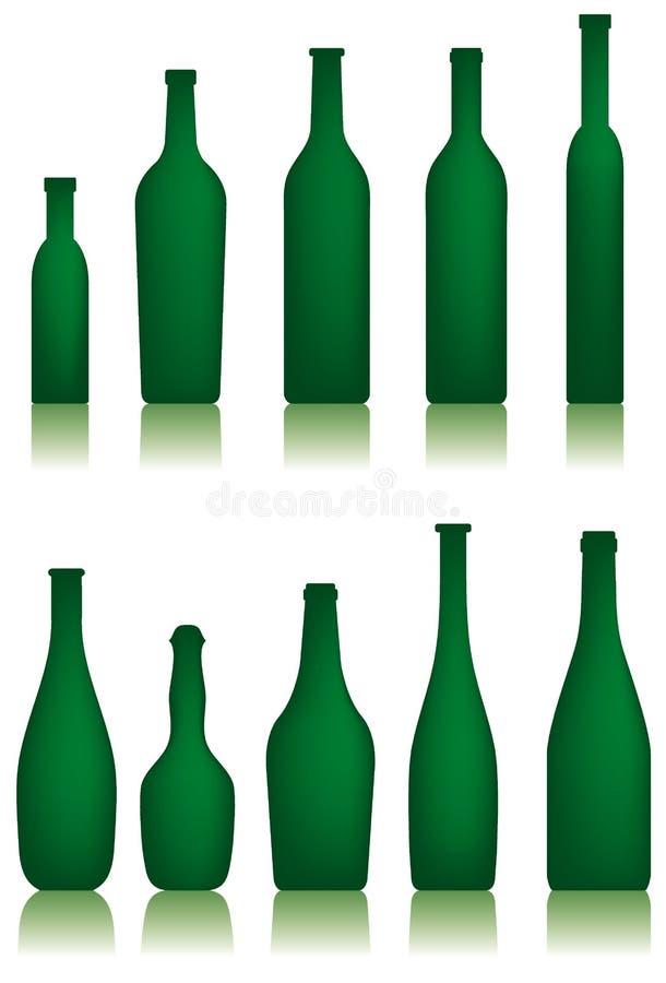 Botellas stock de ilustración