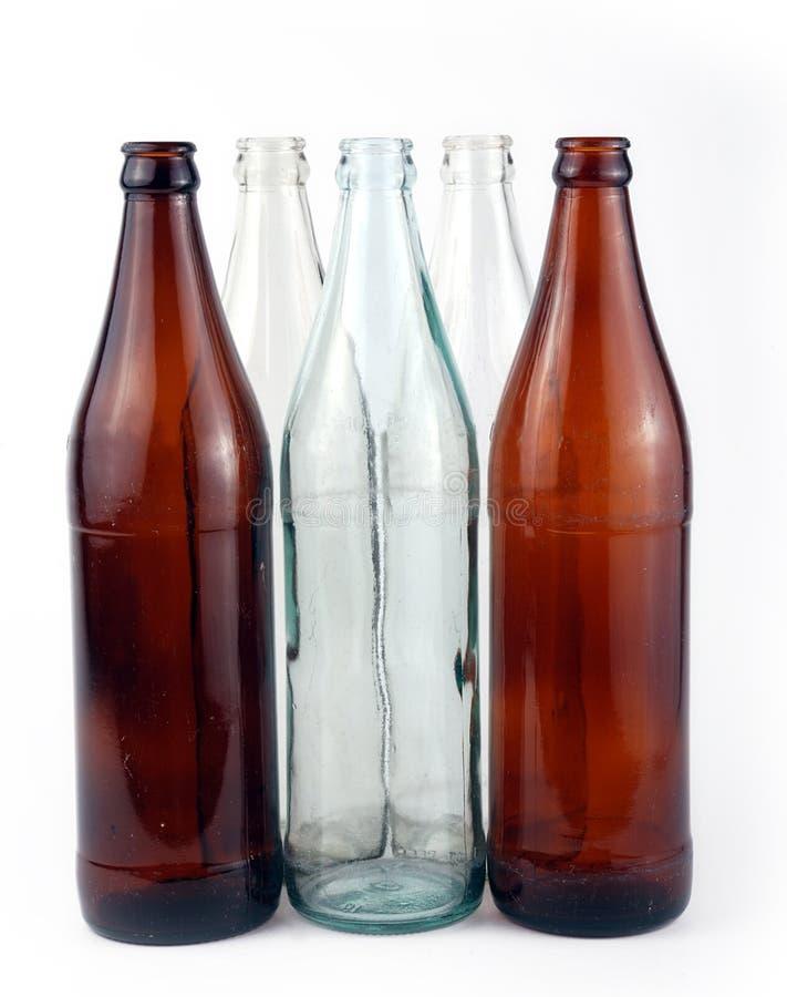 Botellas fotografía de archivo libre de regalías