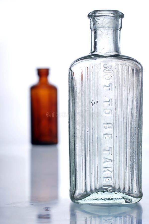 Botellas antiguas fotos de archivo