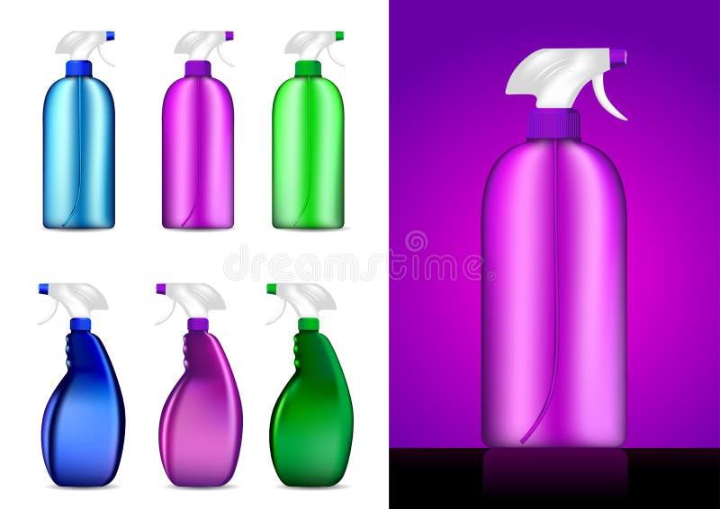Botellas coloridas del aerosol   libre illustration