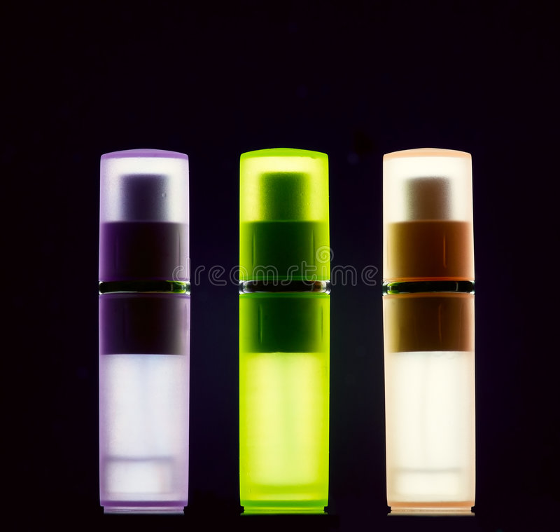 Botellas con perfume foto de archivo libre de regalías