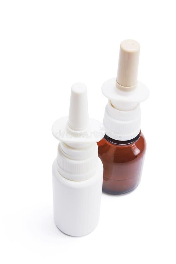 Botellas De Aerosol Nasal Imagen de archivo