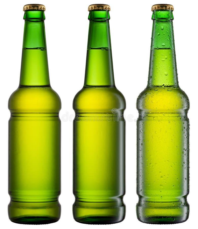 Botellas de cerveza fotografía de archivo libre de regalías