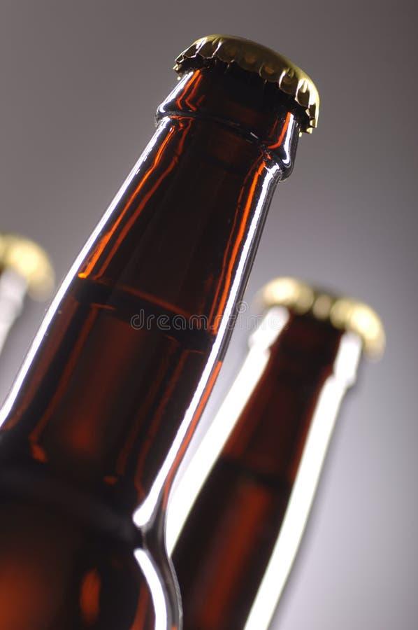 Botellas de cerveza fotos de archivo libres de regalías