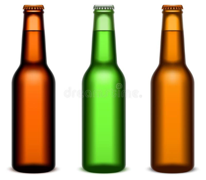 Botellas de cerveza. ilustración del vector