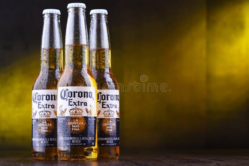 Botellas de cerveza de Corona Extra foto de archivo